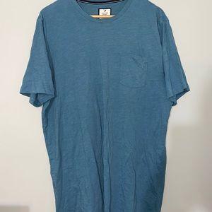 3 for $25 - Men's Denver Hayes Ultra Soft Garment Wash Blue T-Shirt XL Tall